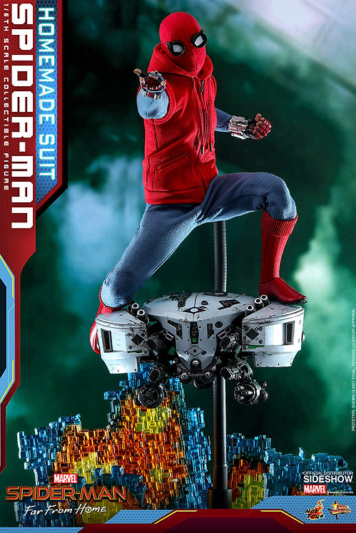 HOT TOYS SPIDER-MAN FAR FROM HOME SPIDER-MAN HOMEMADE SUIT