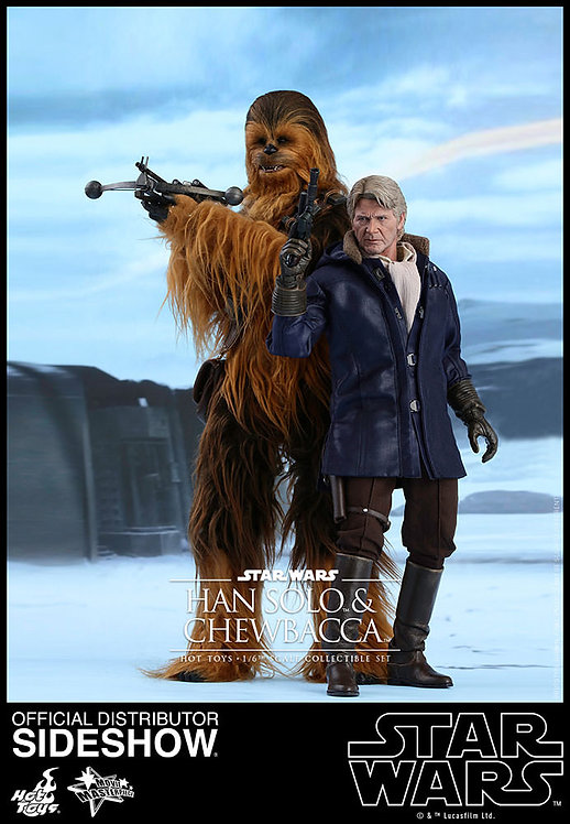 HOT TOYS STAR WARS THE FORCE AWAKENS HAN SOLO AND CHEWBACCA