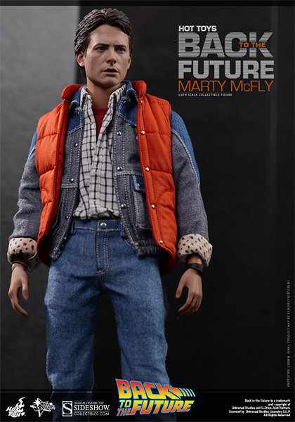 HOT TOYS BACK TO THE FUTURE MARTY MCFLY SIDESHOW EXCLUSIVE