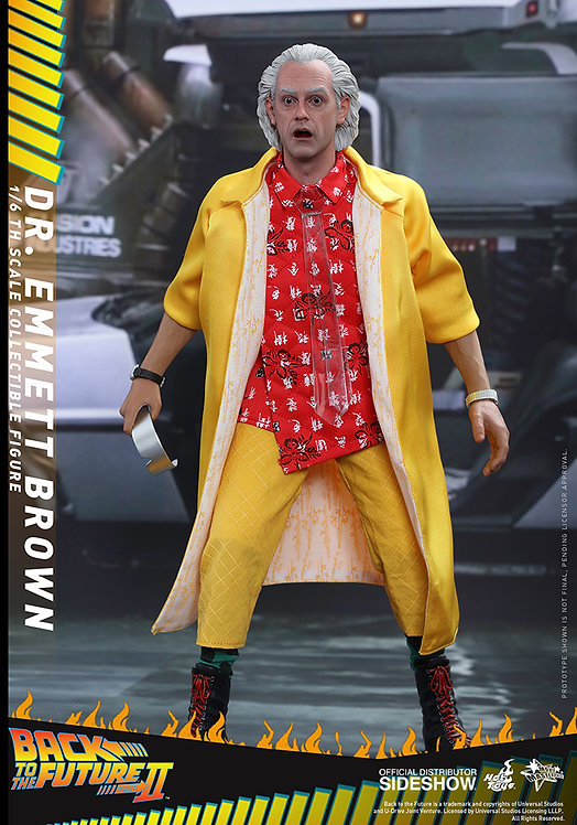 HOT TOYS BACK TO THE FUTURE II DOC BROWN