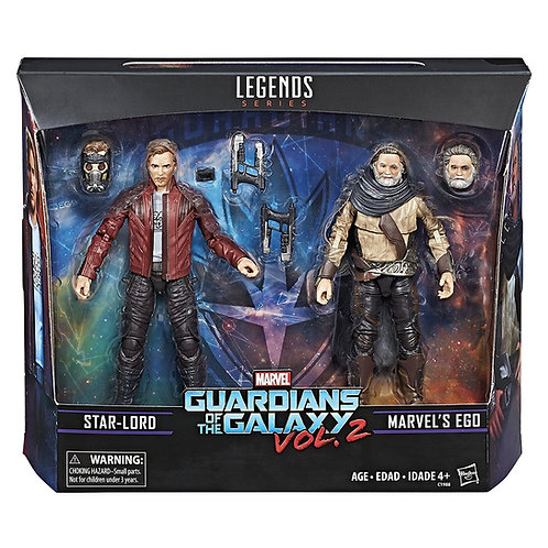 MARVEL LEGENDS GUARDIANS OF THE GALAXY VOL 2 STAR-LORD AND EGO 2 PACK