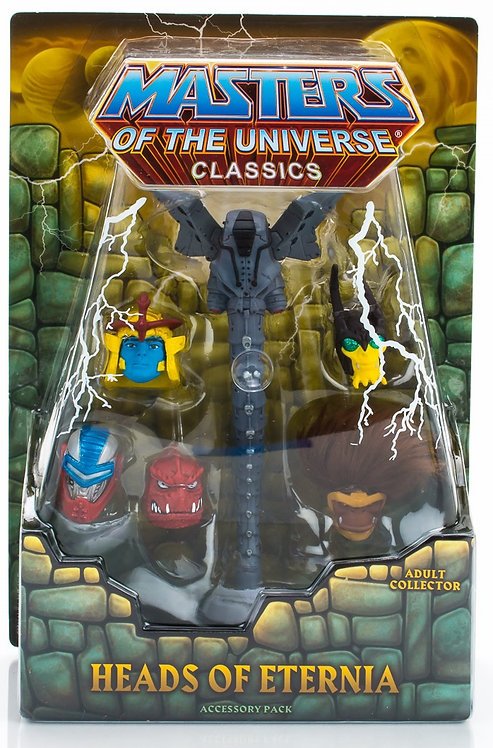 MASTERS OF THE UNIVERSE CLASSICS HEADS OF ETERNIA ACCESSORY PACK