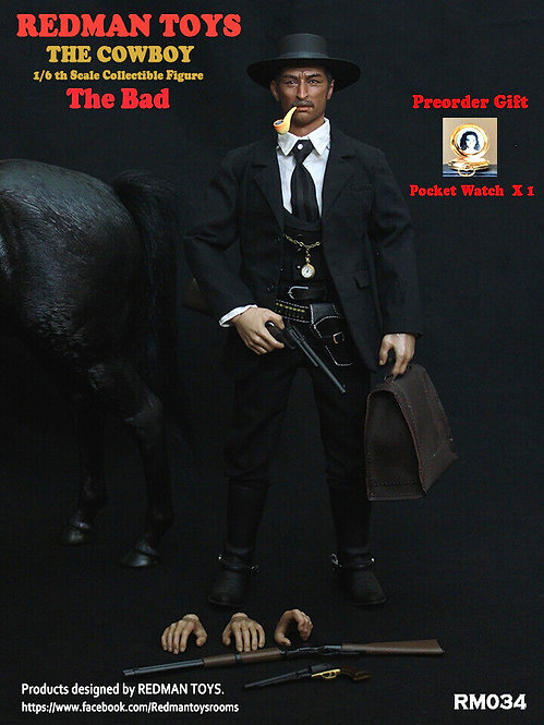 """REDMAN TOYS THE COWBOY THE BAD - THE GOOD, THE BAD AND THE UGLY""""THE BAD"""""""