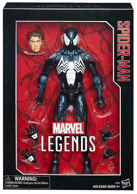 "MARVEL LEGENDS SERIES 12"" INCH 1/6 SCALE SPIDER-MAN BLACK COSTUME"