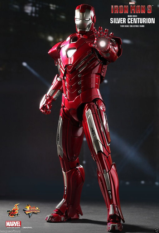 HOT TOYS IRON MAN 3 MARK 33 SILVER CENTURION