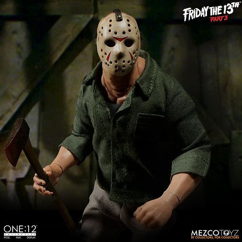 MEZCO TOYZ ONE:12 FRIDAY THE 13TH PART 3 JASON VOORHEES