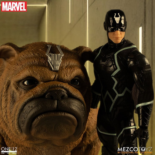 MEZCO TOYZ ONE:12 MARVEL BLACK BOLT AND LOCKJAW SET