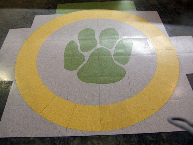 vinyl tile inlays