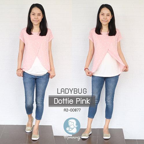 Ladybug (Dottie Pink)  - เสื้อให้นม แบบแหวก
