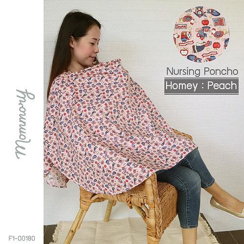 Homey : Peach - ผ้าคลุมให้นม Cotton 100%