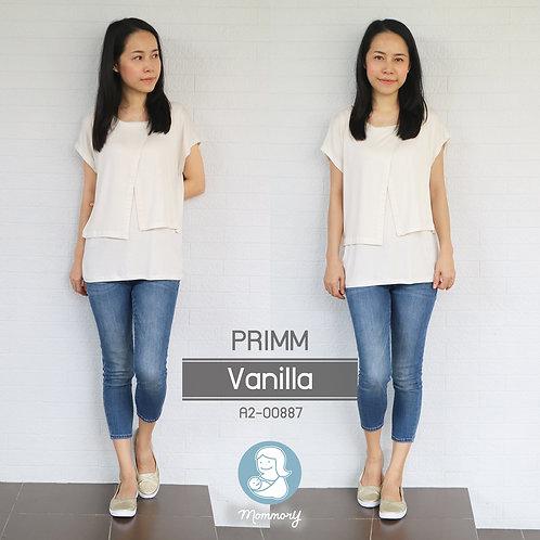 Primm (Vanilla)  - เสื้อให้นม แบบแหวก