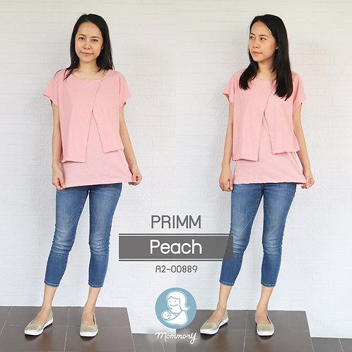 Primm (Peach)  - เสื้อให้นม แบบแหวก