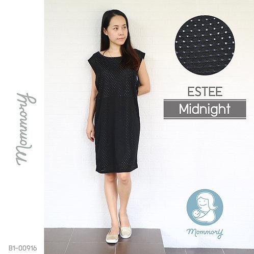 Estee (Midnight) - เสื้อให้นม/ชุดให้นม แบบแหวก