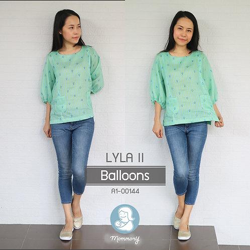 Lyla II (Balloons) - เสื้อให้นม แบบซิปซ่อน