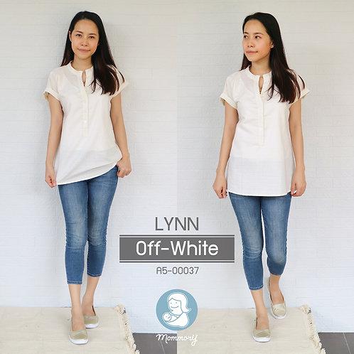 Lynn (Off-White) - เสื้อให้นม แบบกระดุมหน้า