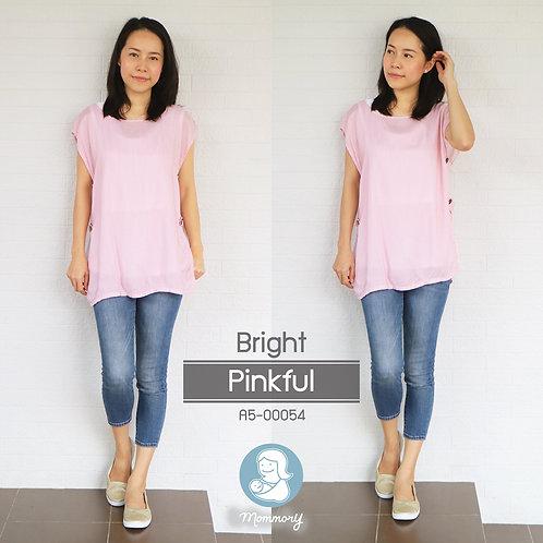 Bright (Pinkful)  - เสื้อให้นม แบบกระดุมข้าง