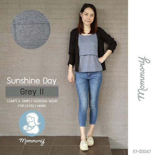 Sunshine Day (Grey II) - เสื้อชั้นในให้นม สายเดี่ยว