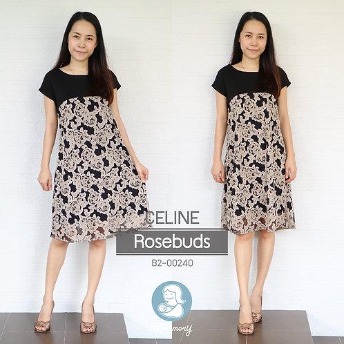 Celine (Rosebuds) - ชุดให้นมแบบซิปซ่อน : 690 THB