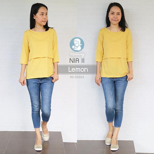 Nia II (Lemon) - เสื้อให้นม แบบเปิดหน้า