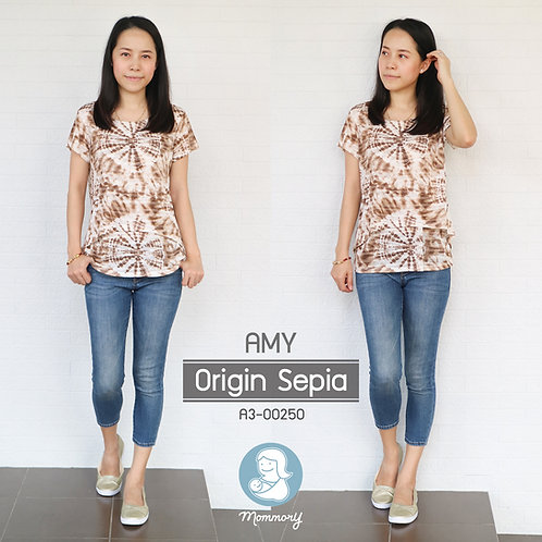 Amy (Origin Sepia)  - เสื้อให้นม แบบเปิดหน้า