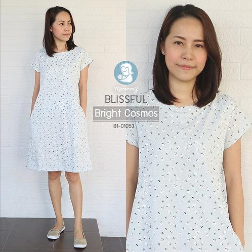 Blissful (Bright Cosmos) - เสื้อให้นม/ชุดให้นม แบบแหวก