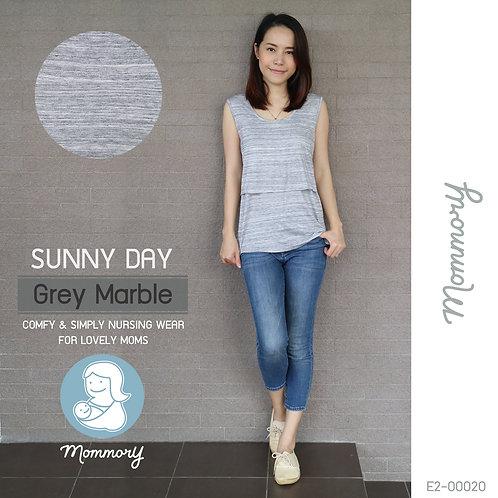 Sunny Day (Grey Marble) - เสื้อแขนกุดให้นม