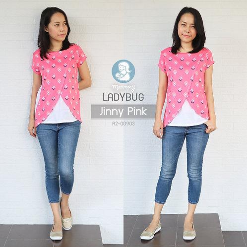 Ladybug (Jinny Pink) - เสื้อให้นม แบบแหวก