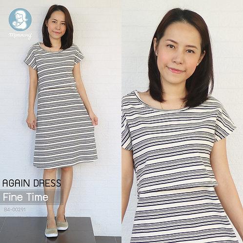 Again Dress (Fine Time) -  ชุดให้นม แบบเปิดหน้า