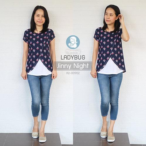 Ladybug (Jinny Night) - เสื้อให้นม แบบแหวก