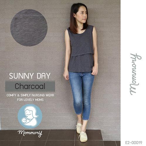 Sunny Day (Charcoal) - เสื้อแขนกุดให้นม