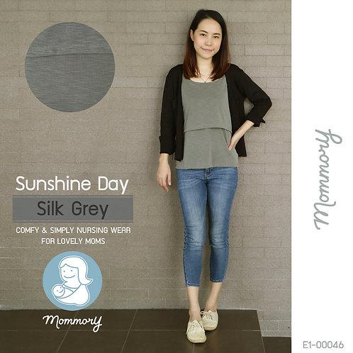 Sunshine Day (Silk Grey) - เสื้อชั้นในให้นม สายเดี่ยว