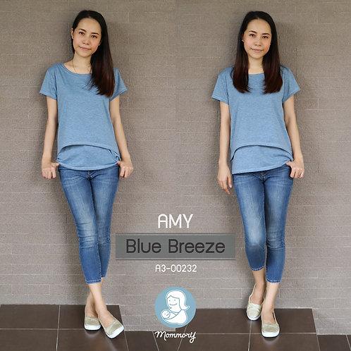 Amy (Blue Breeze) - เสื้อให้นม แบบเปิดหน้า