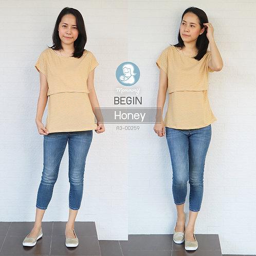 Begin (Honey) - เสื้อให้นม แบบเปิดหน้า