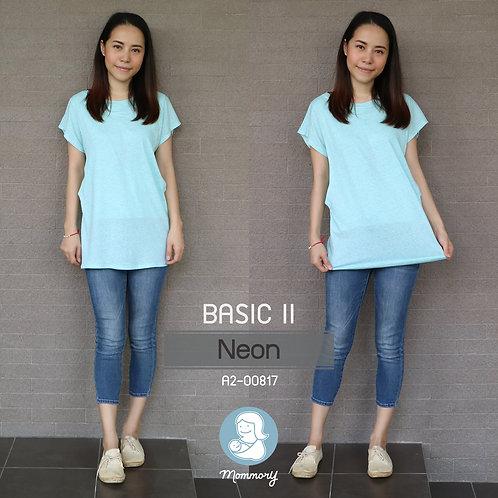 Basic II (Neon) - เสื้อให้นม แบบแหวกข้าง