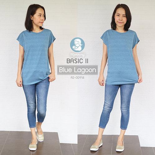 Basic II (Blue Lagoon) - เสื้อให้นม แบบแหวกข้าง