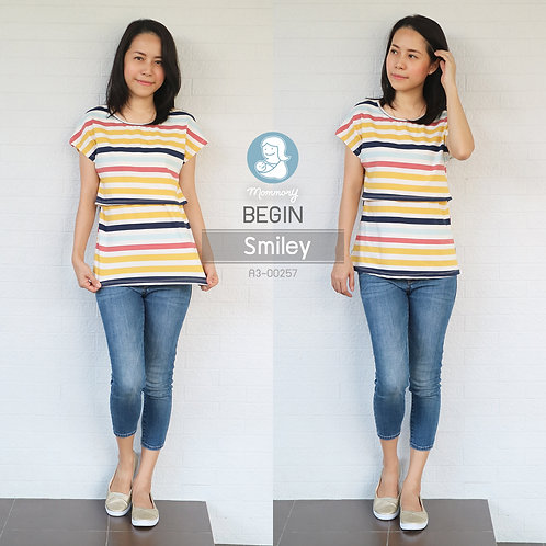 Begin (Smiley) - เสื้อให้นม แบบเปิดหน้า