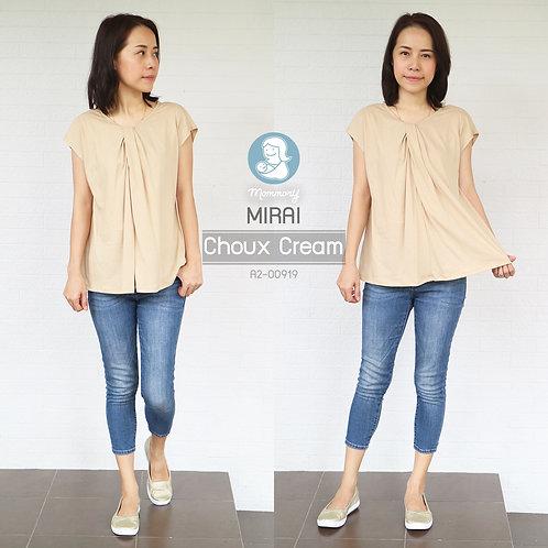 Mirai (Choux Cream) - เสื้อให้นม แบบแหวก