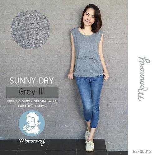 Sunny Day (Grey III) - เสื้อแขนกุดให้นม
