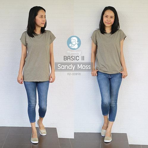 Basic II (Sandy Moss) - เสื้อให้นม แบบแหวกข้าง