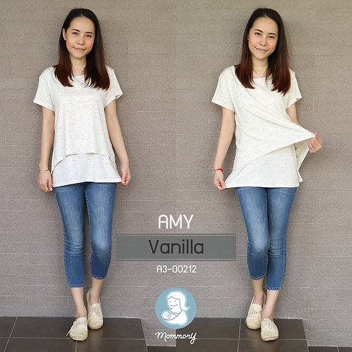 Amy (Vanilla) - เสื้อให้นม แบบเปิดหน้า