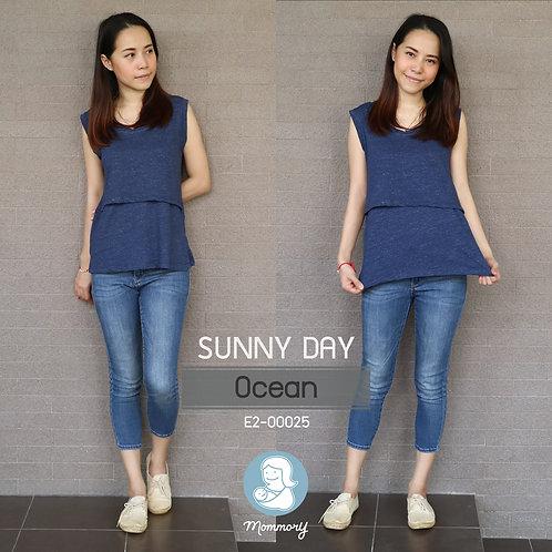 Sunny Day (Ocean) - เสื้อแขนกุดให้นม