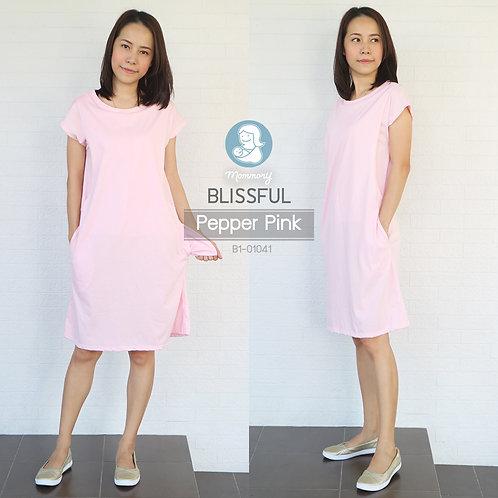 Blissful (Pepper Pink) - เสื้อให้นม/ชุดให้นม แบบแหวก