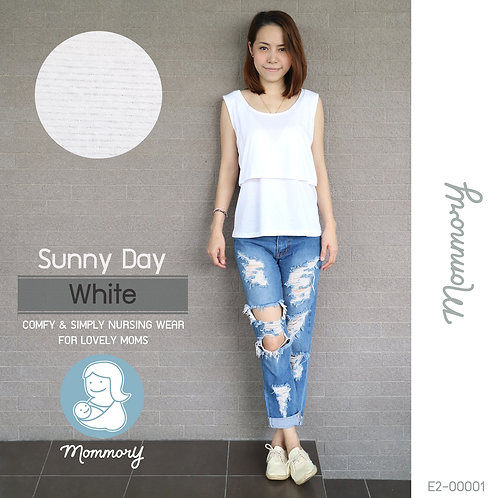 Sunny Day (White) - เสื้อแขนกุดให้นม