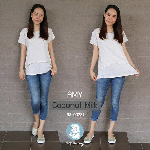 Amy (Coconut Milk) - เสื้อให้นม แบบเปิดหน้า