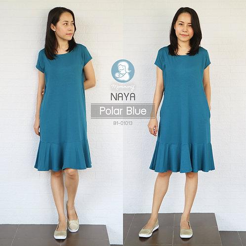 Naya (Polar Blue) - เสื้อให้นม/ชุดให้นม แบบแหวก