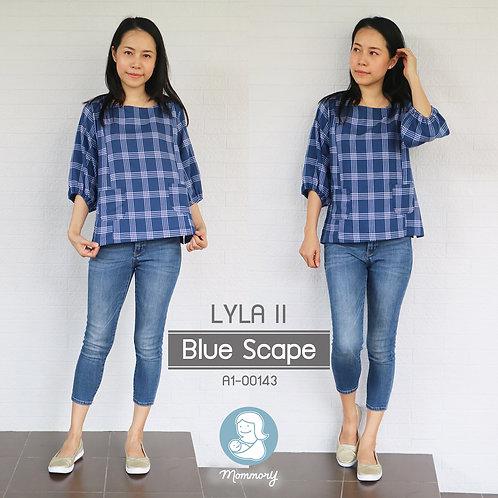 Lyla II (Blue Scape) - เสื้อให้นม แบบซิปซ่อน