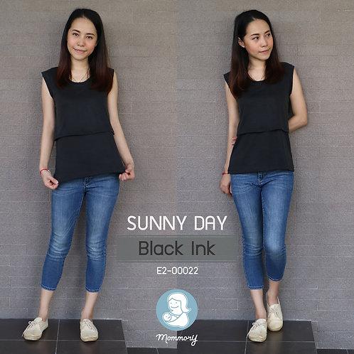 Sunny Day (Black Ink) - เสื้อแขนกุดให้นม