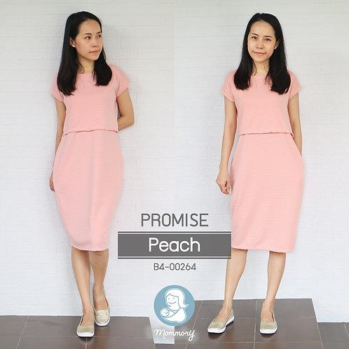 Promise (Peach)   -  ชุดให้นม แบบเปิดหน้า