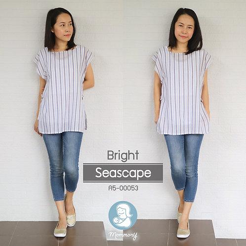 Bright (Seascape)  - เสื้อให้นม แบบกระดุมข้าง