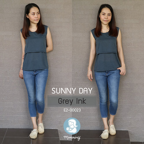Sunny Day (Grey Lnk) - เสื้อแขนกุดให้นม
